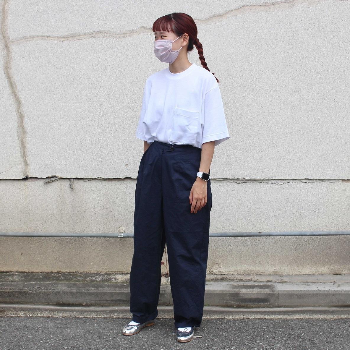 インド綿二重編みビッグTシャツ 男女兼用 とタックパンツ