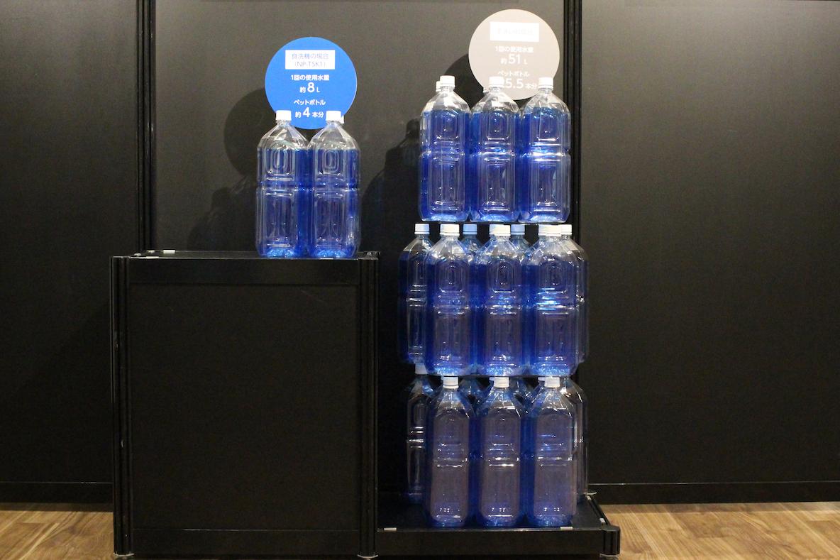 食洗機を使って節水できる水の量