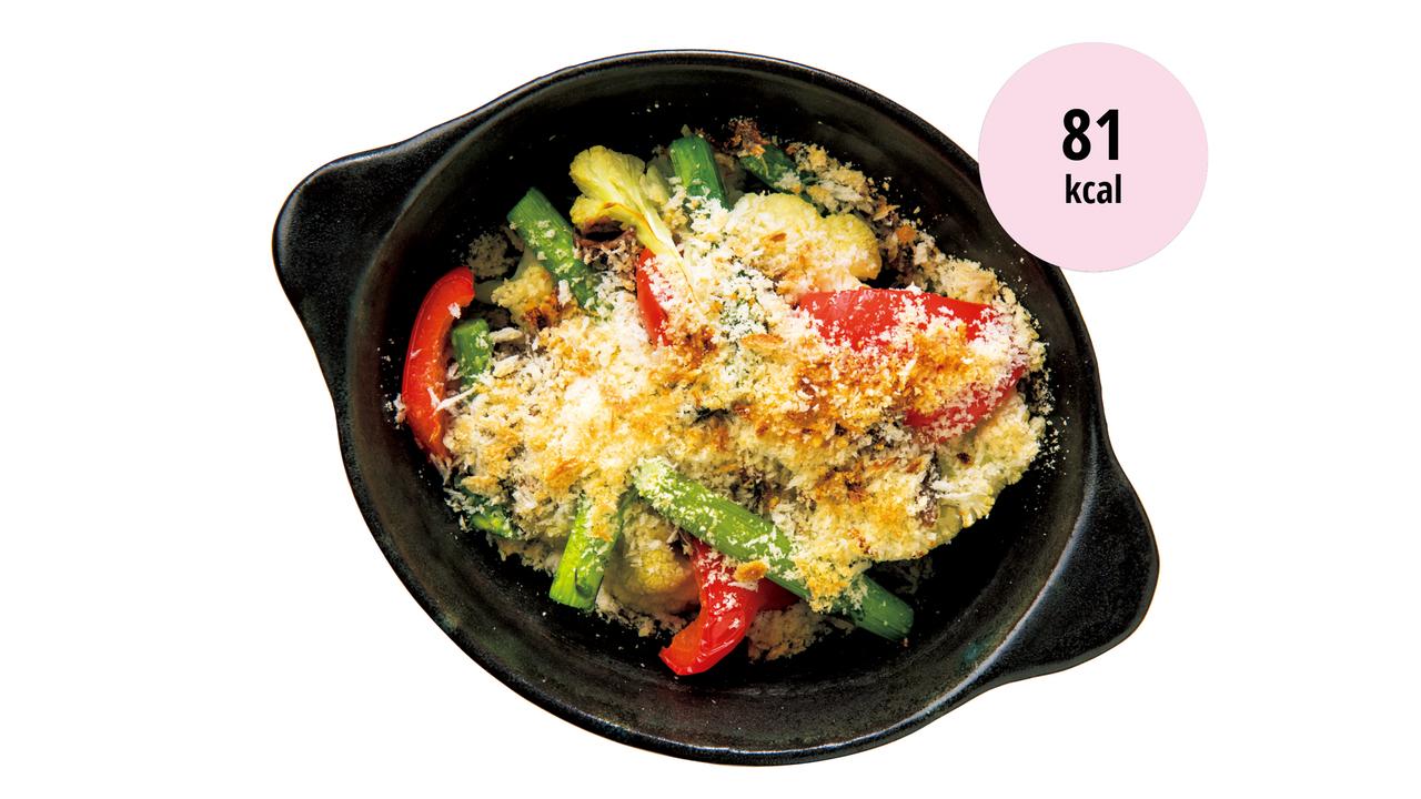 4. 蒸し野菜のパン粉焼き