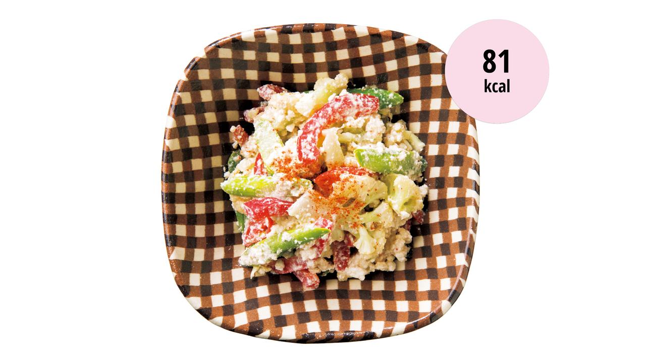 5. 蒸し野菜のカッテージチーズ白和え