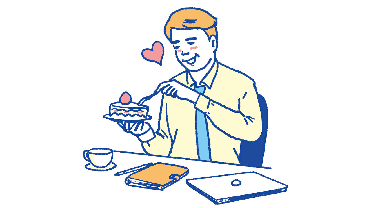 6. おみやげにケーキもらって食べちゃった