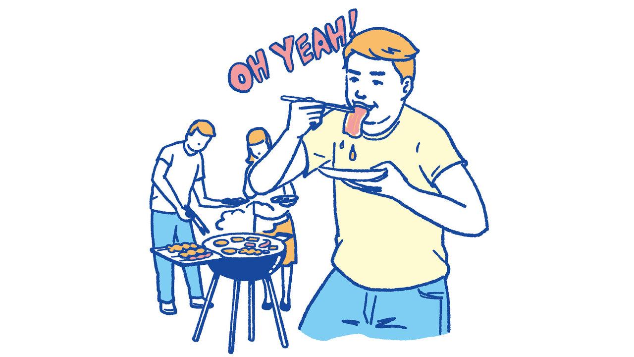 7. バーベキューで霜降りカルビをいっぱい食べちゃった
