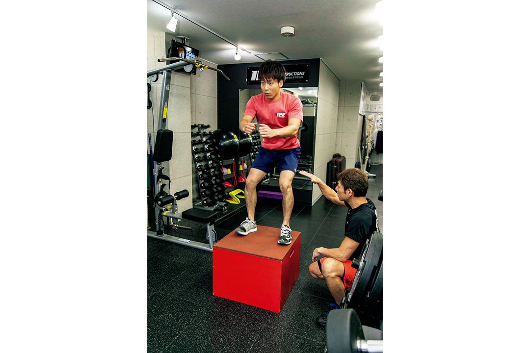 (4)瞬発性を高めるジャンプトレーニングも。