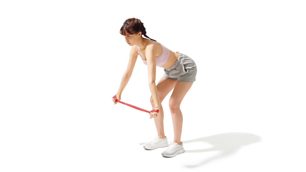 肩甲骨周辺のトレーニング「ショルダー・ローテーション」の動作その1