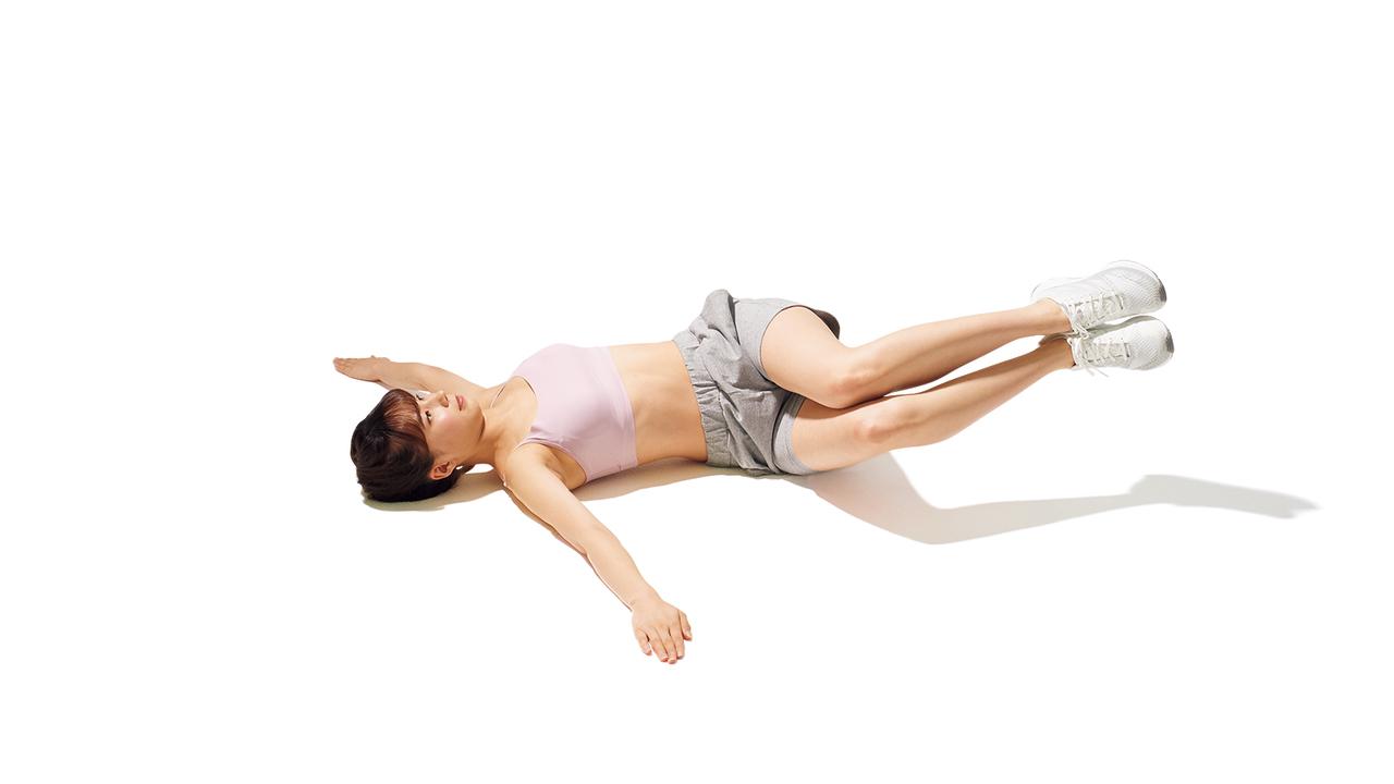 骨盤周辺のトレーニング「リバース・トランクツイスト」の動作その4