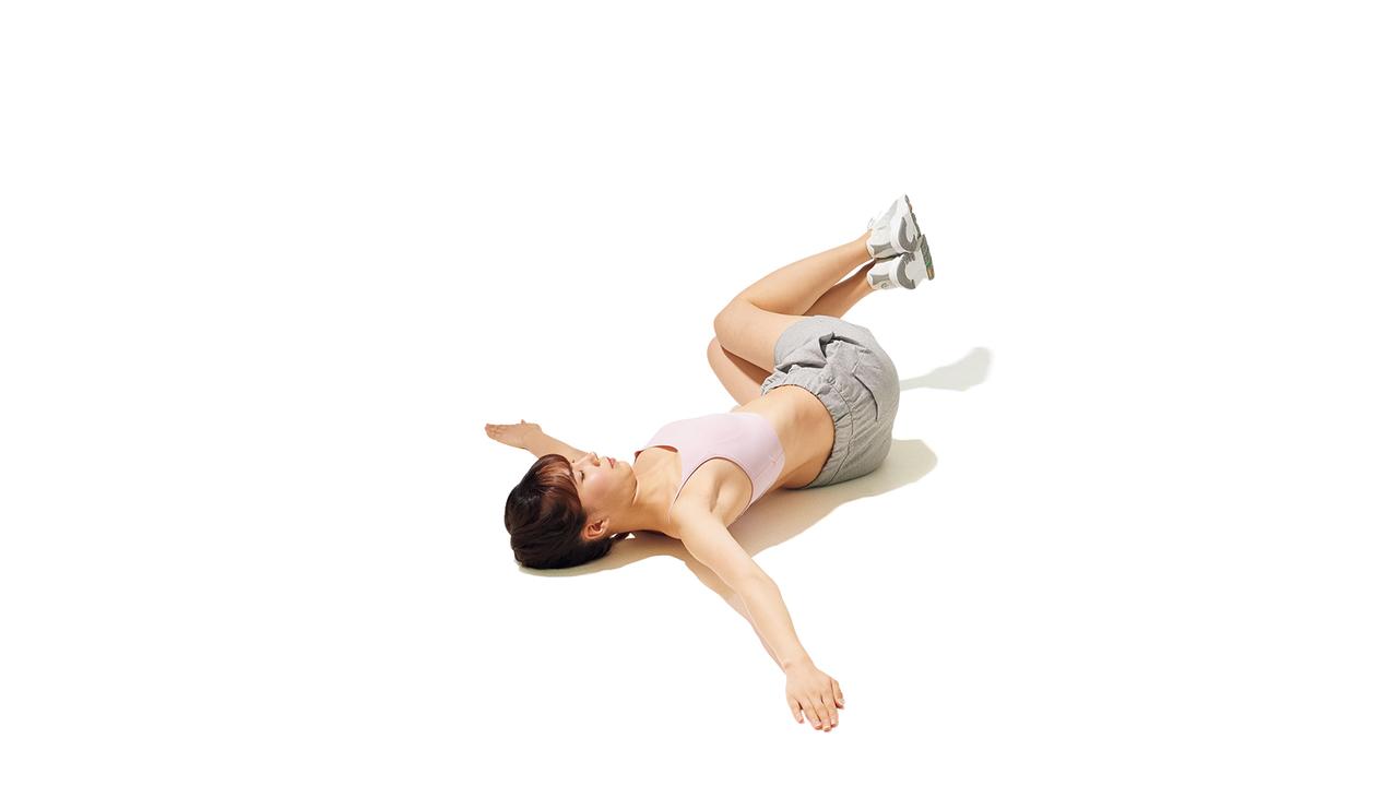 骨盤周辺のトレーニング「リバース・トランクツイスト」の動作その2