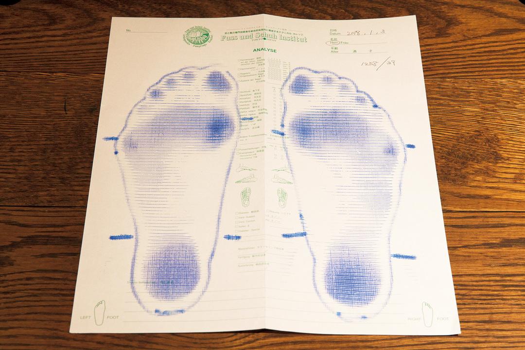 足型を取る器具はドイツ製