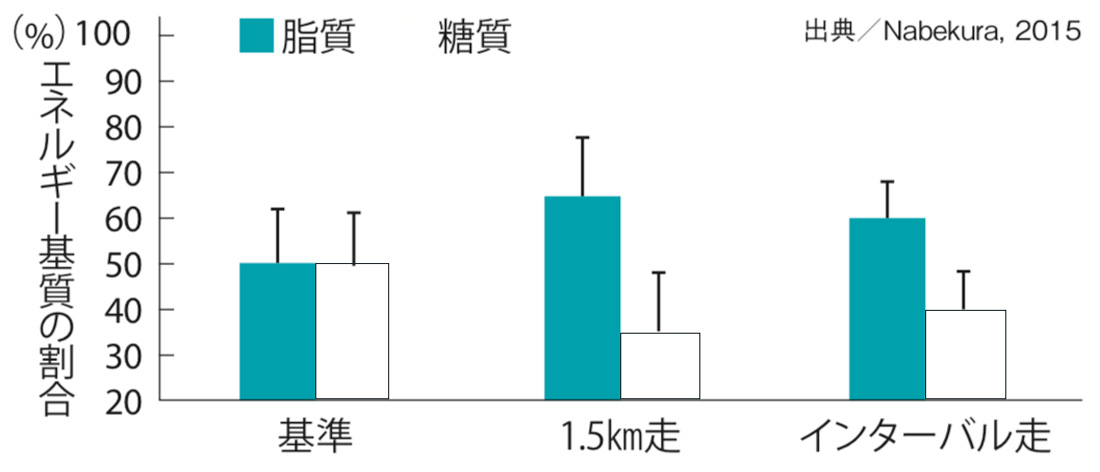 短時間の刺激でランニングの脂質代謝が高まる