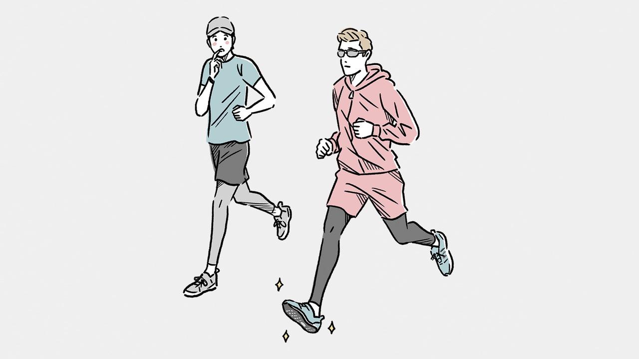 颯爽と走る上級者たちが着用しているシューズはかっこよく見えるし、同じものを履けば自分も速く走れるのではないかと思いがち。
