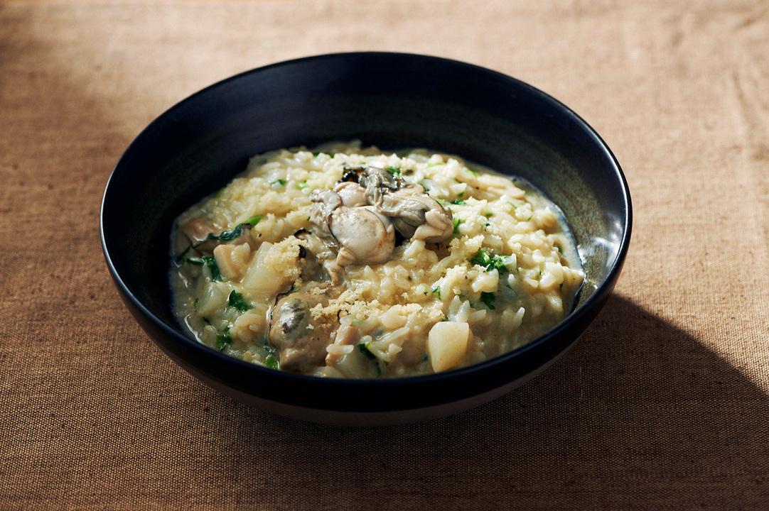 牡蠣と蕪の洋風雑炊