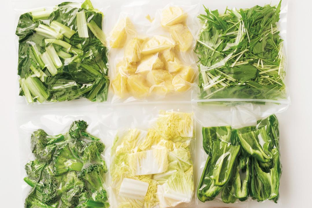 野菜は切って冷蔵か冷凍