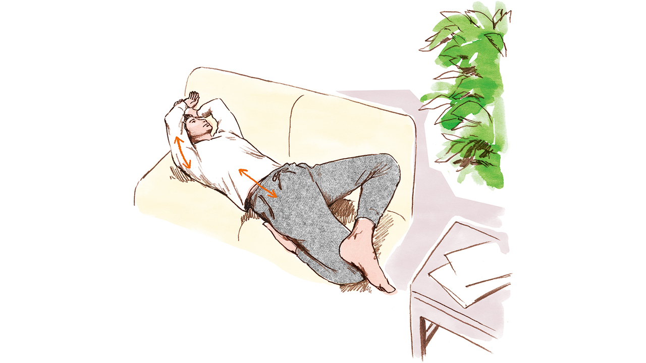 太腿前のストレッチ