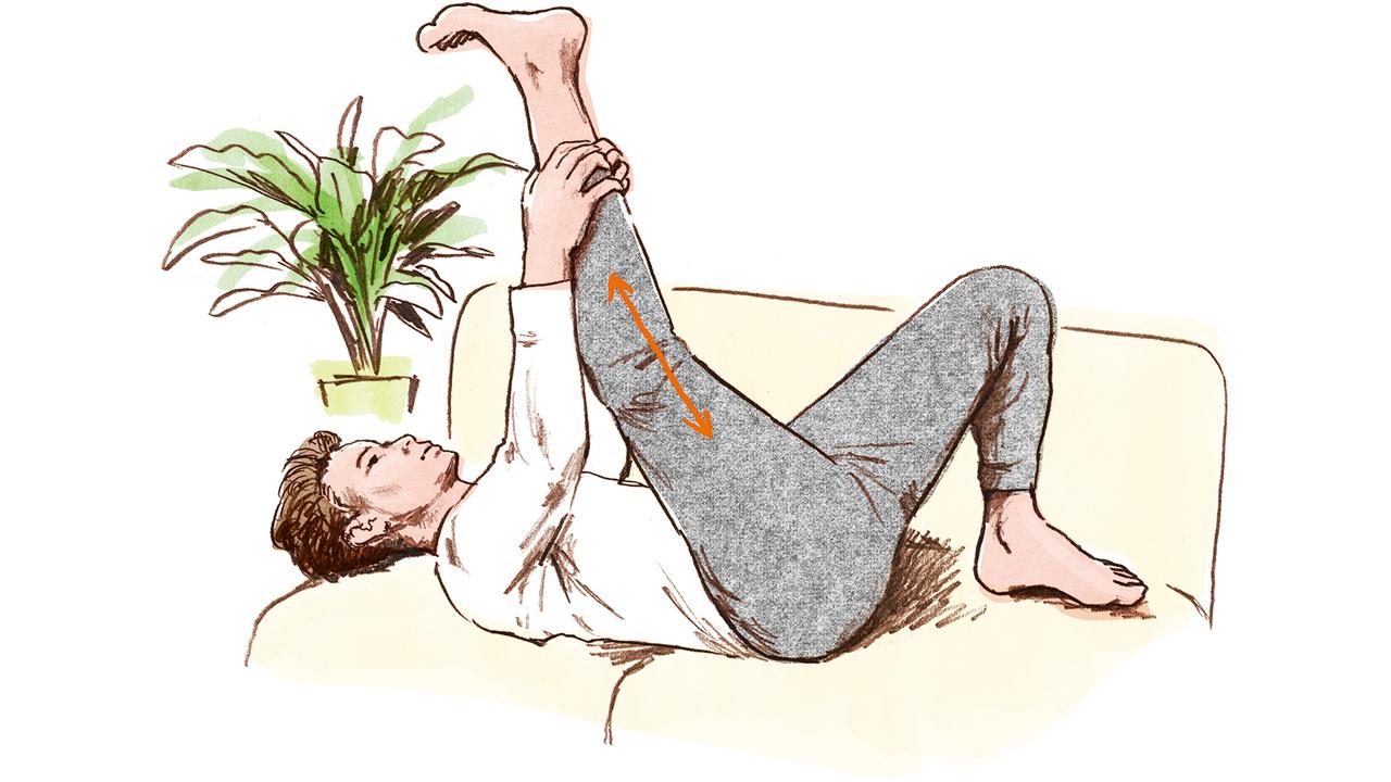 太腿裏のストレッチ