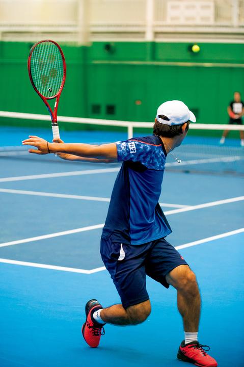 テニスプレイヤー・西岡良仁の練習の様子5