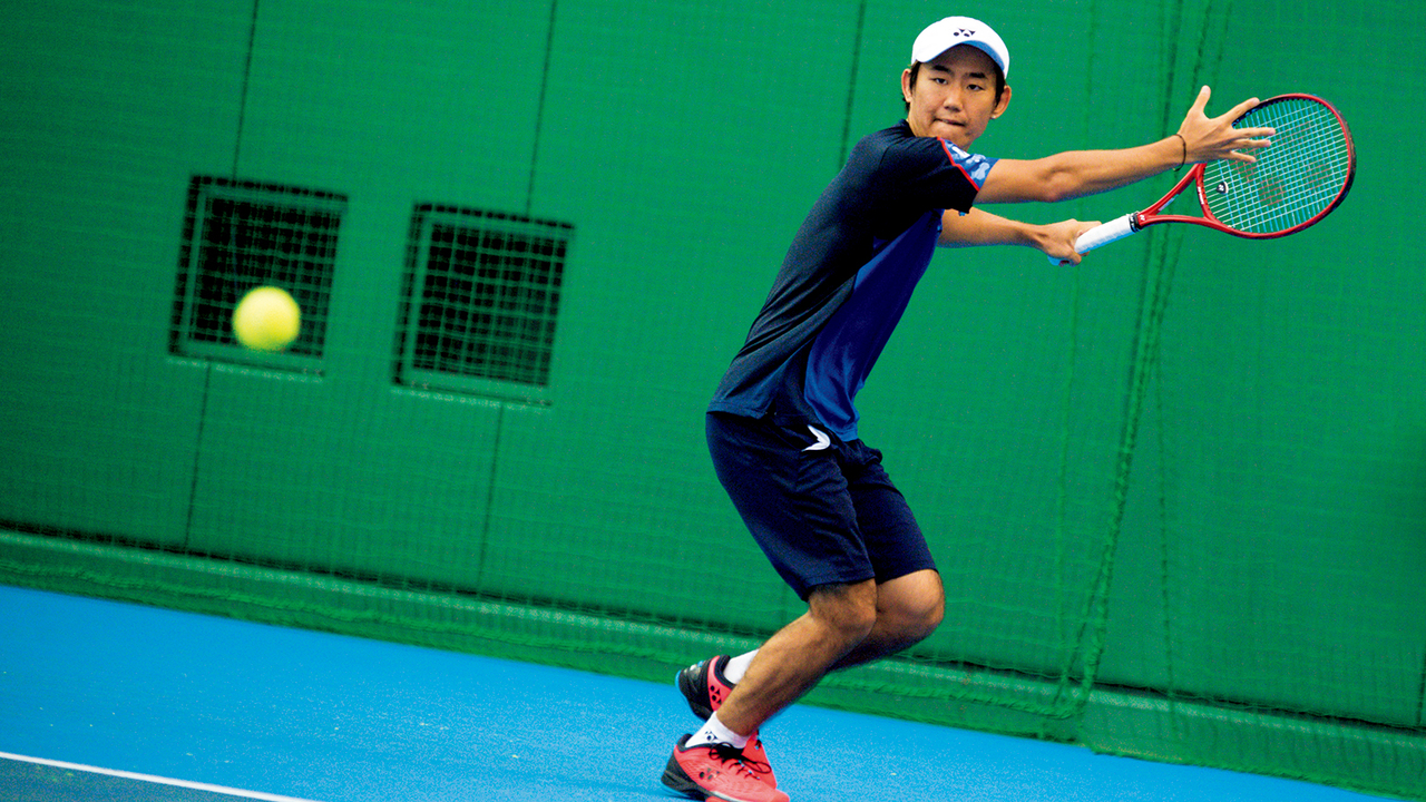 テニスプレイヤー・西岡良仁の練習の様子2