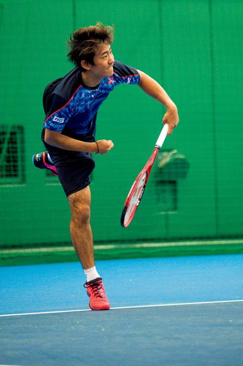 テニスプレイヤー・西岡良仁の練習の様子4