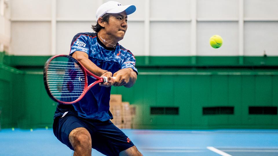 テニスプレイヤー・西岡良仁の練習の様子1