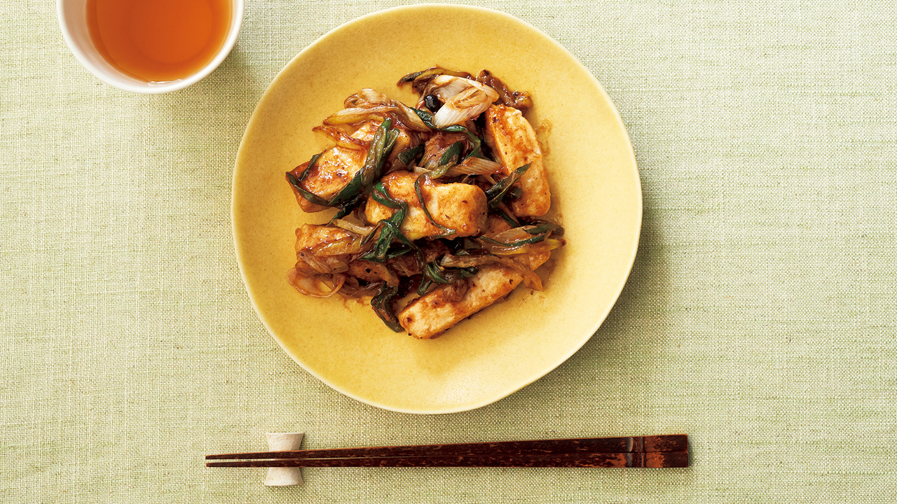 5. メカジキと長ネギの豆豉醬炒め
