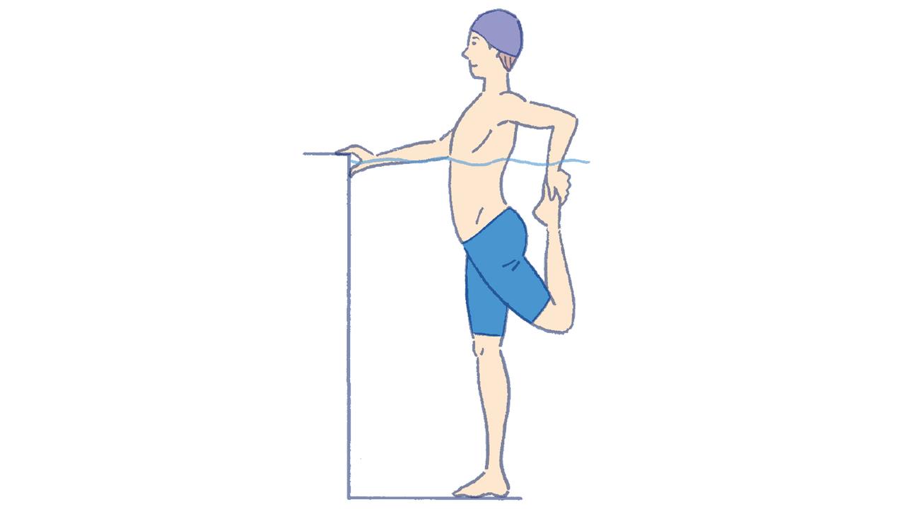 2. ストレッチ(大腿四頭筋)