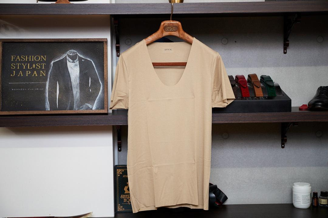〈グンゼ SEEK〉カットオフ Uネック Tシャツ