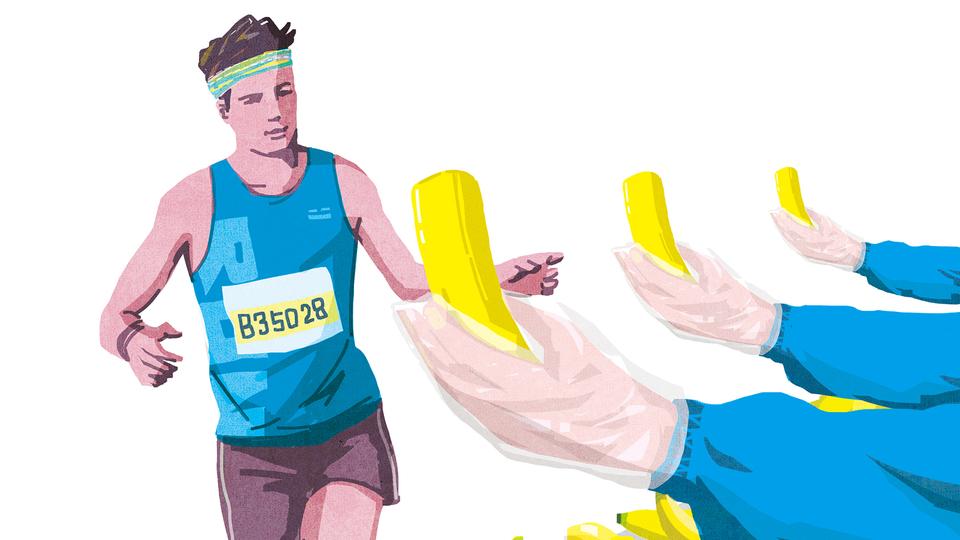 """フルマラソン完走の新理論! """"バナナローディング""""のススメ"""