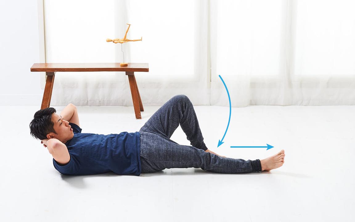太ももを鍛える「寝っころがりながらトレ」Basic動作3
