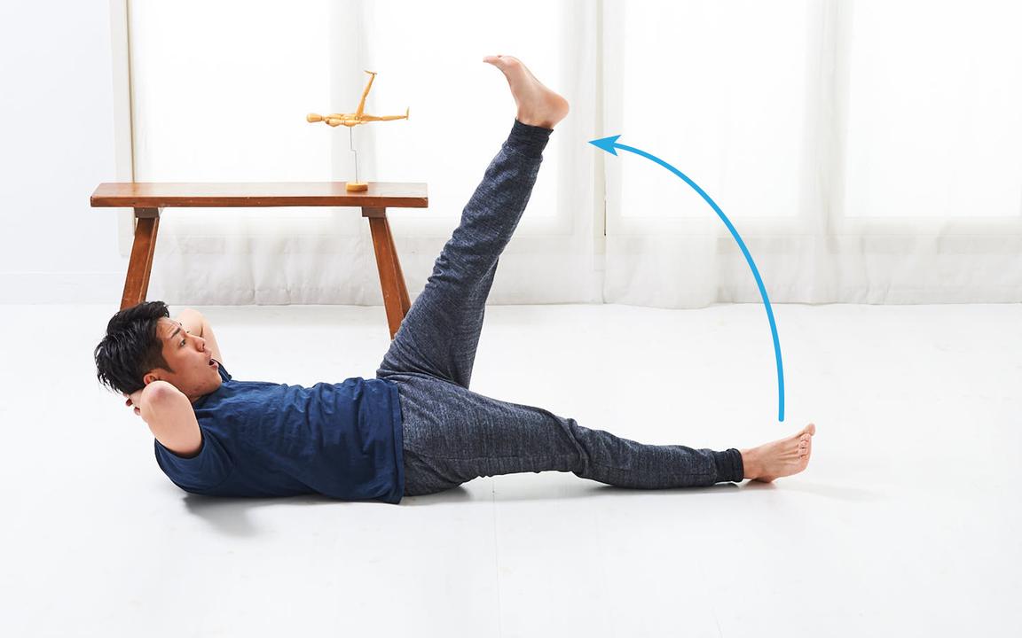 太ももを鍛える「寝っころがりながらトレ」Basic動作2