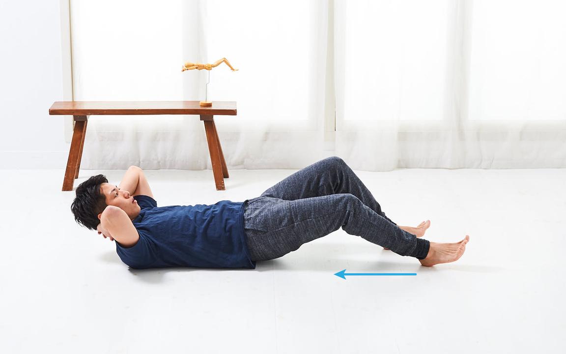 太ももを鍛える「寝っころがりながらトレ」Advance動作2