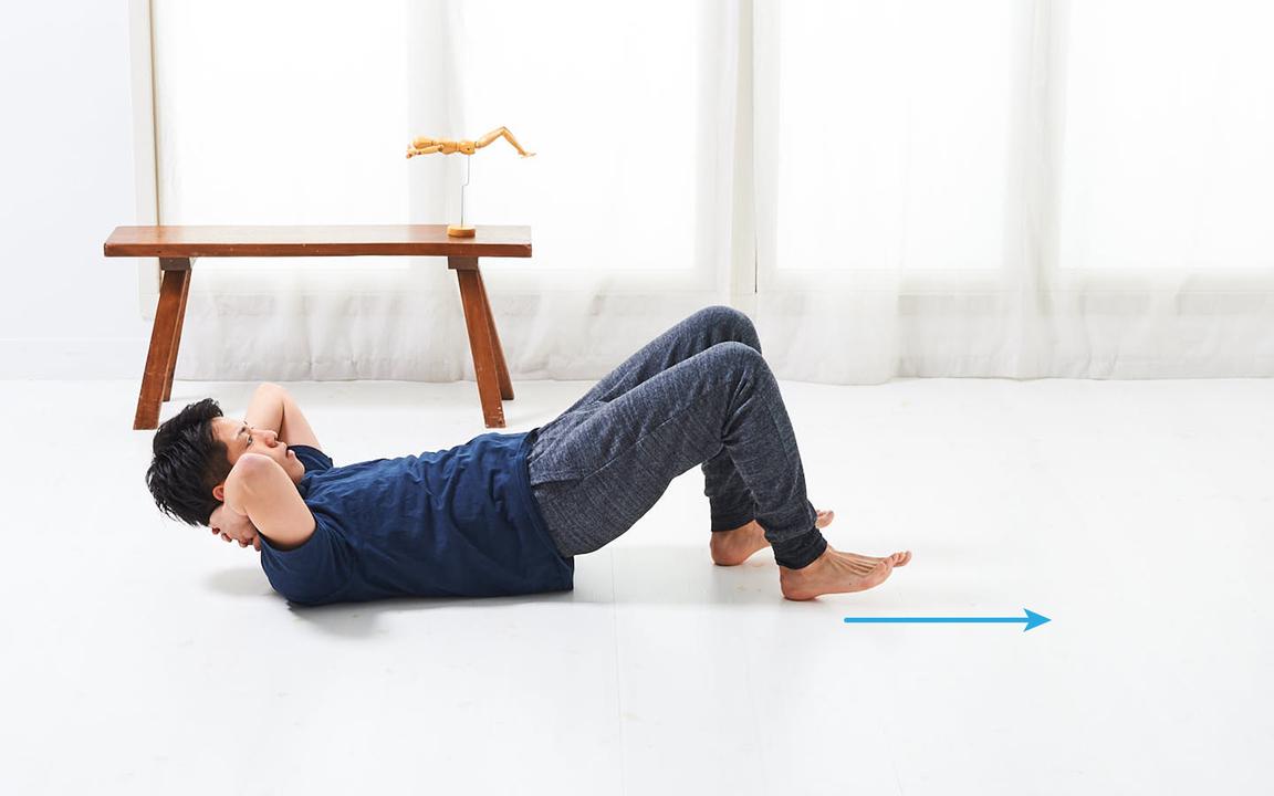 太ももを鍛える「寝っころがりながらトレ」Advance動作3