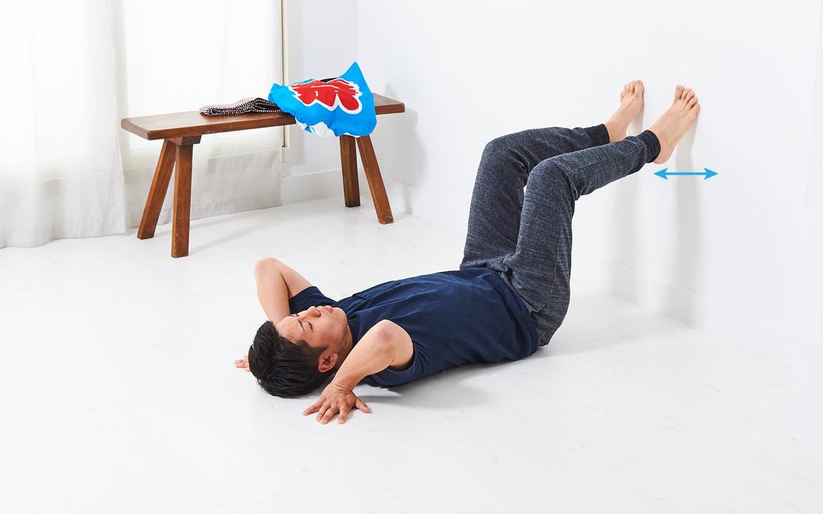 ふくらはぎを鍛える「寝っころがりながらトレ」Advance動作2