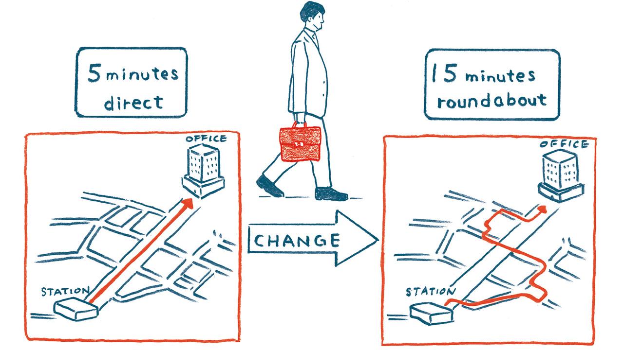 10分ぐらい普段より長く歩こう