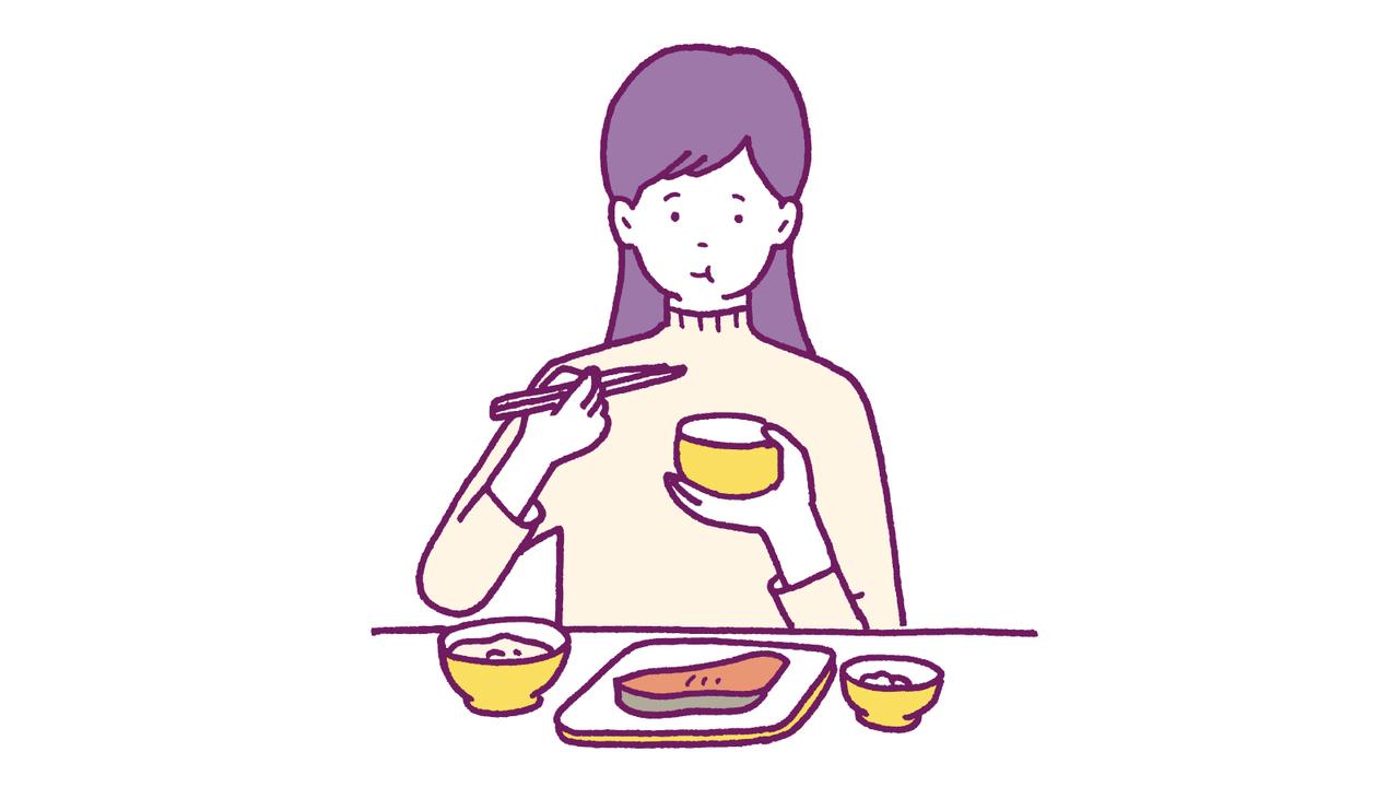 肥満につながる早食いを防ぐためにひと口30回嚙む