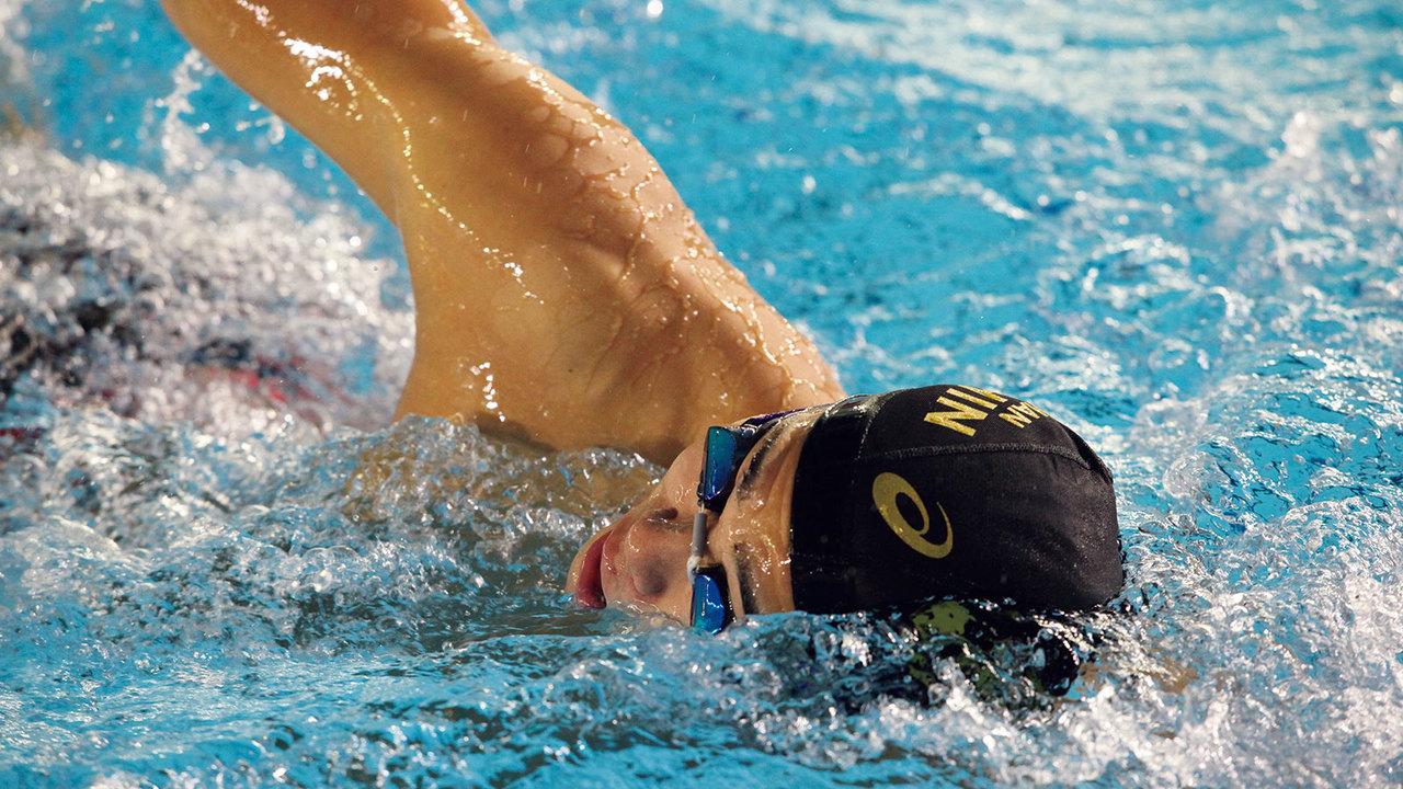 泳ぐのが楽しく、飽きることがないという水泳選手の中村克