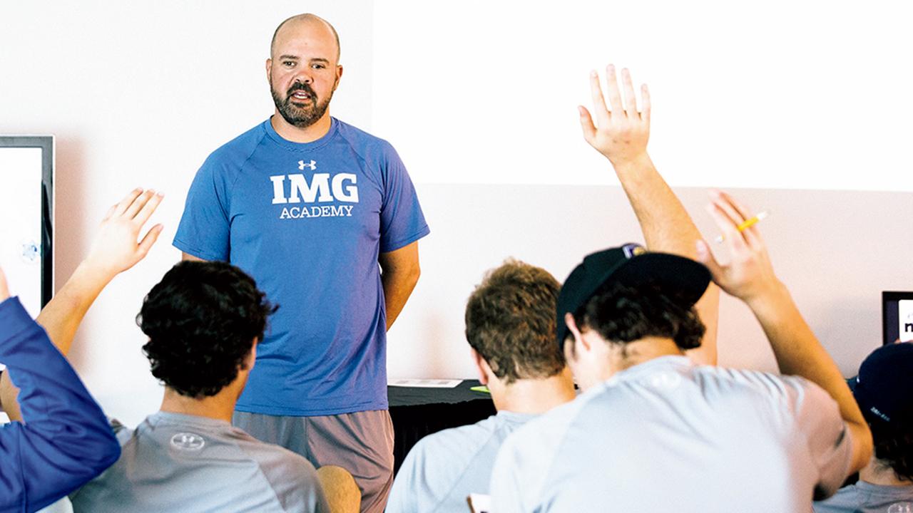 IMGアカデミーでメンタル・トレーニングを行うスポーツ心理学者のデイヴィッド・ダ・シルヴァ。