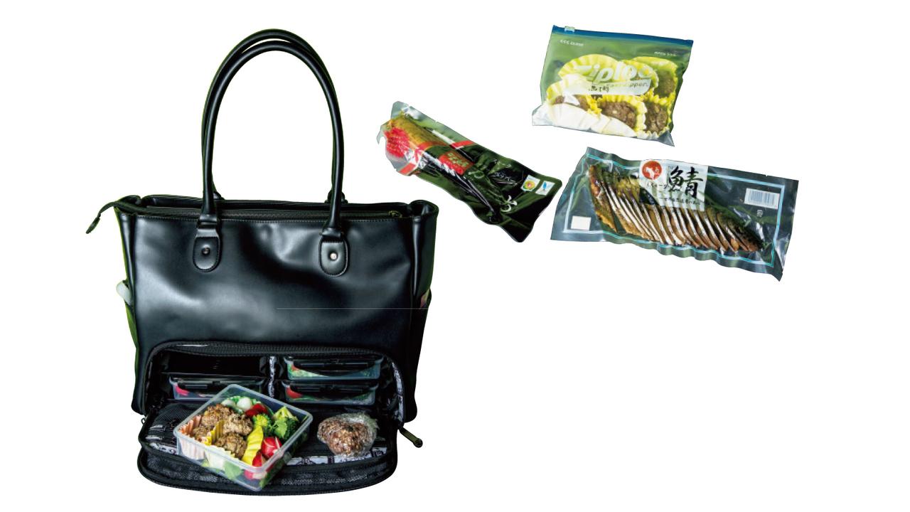 通勤鞄に+αで弁当鞄