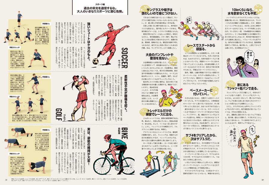『ターザン』762号「実は、カラダに悪いこと」特集【ランニング&スポーツ】企画の誌面