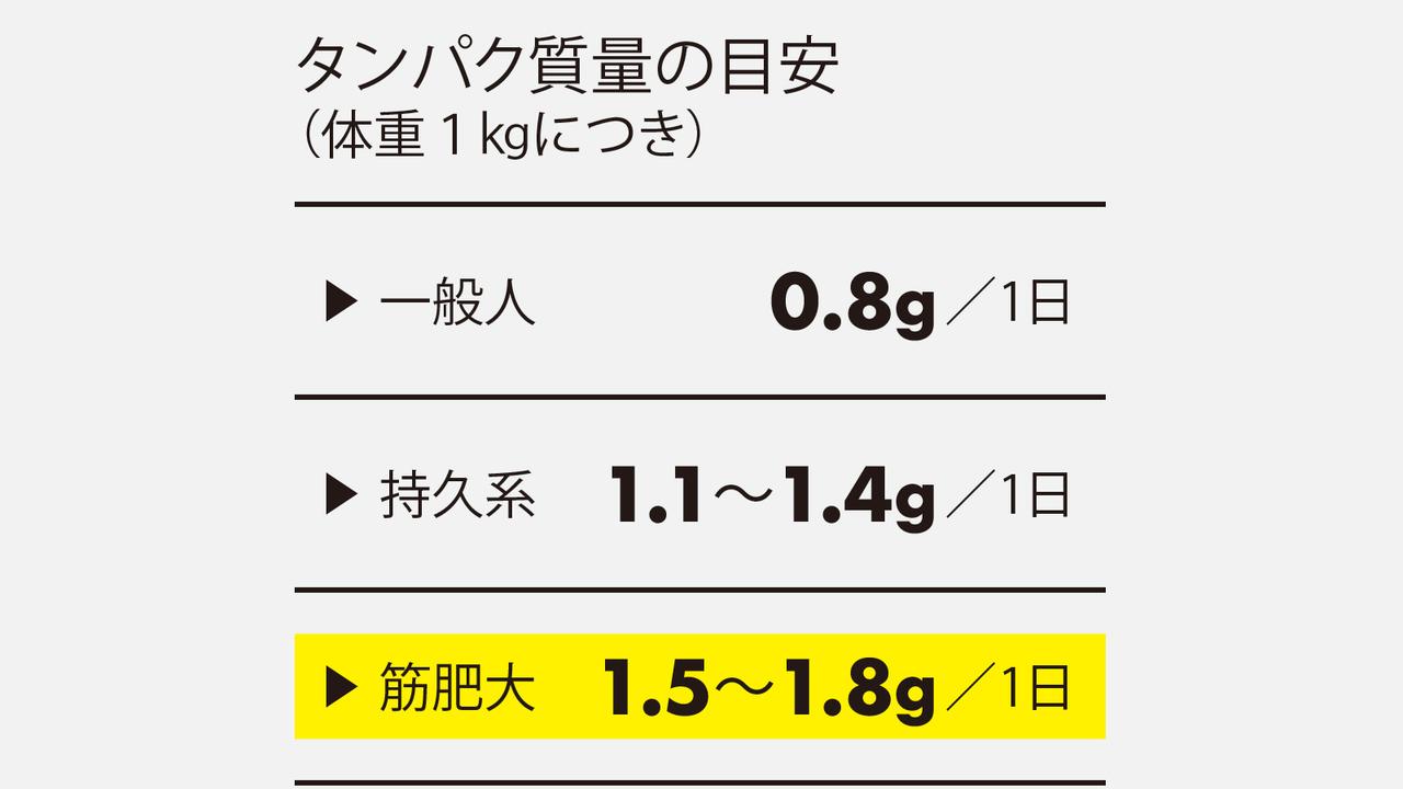 タンパク質量の目安