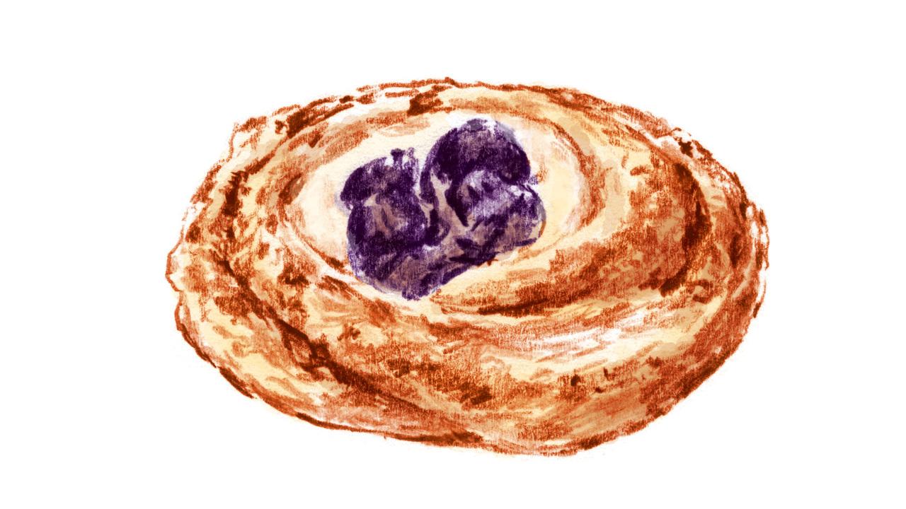 朝食のデニッシュは植物性油脂やバターがたっぷり含まれている