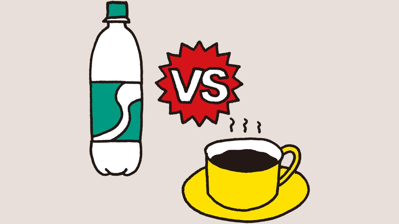 スポーツドリンク VS コーヒー