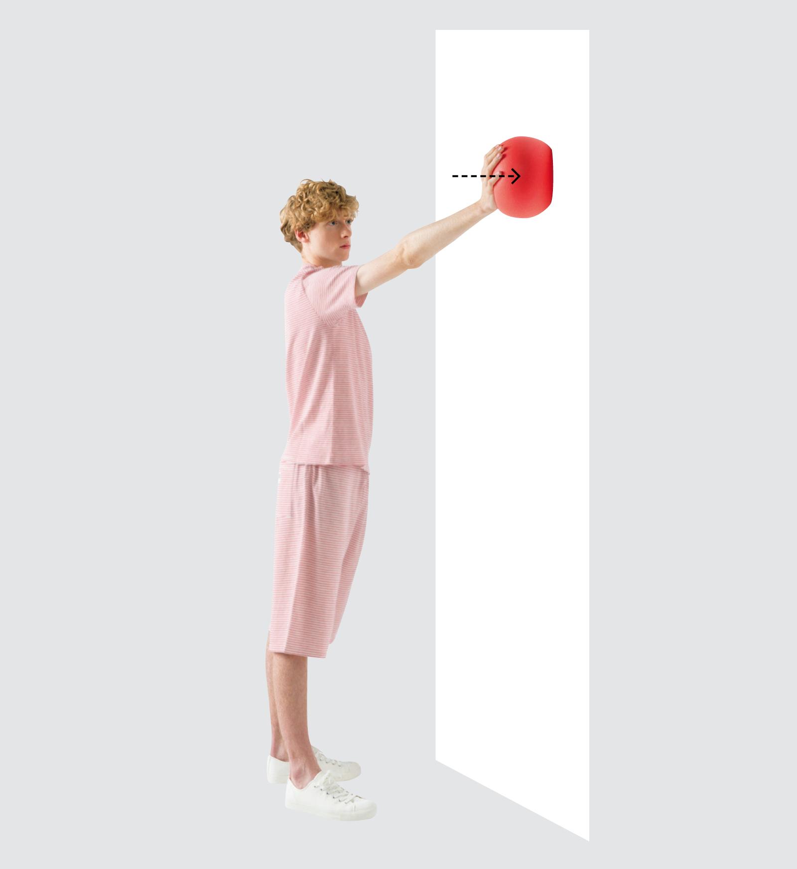 1. 斜めボール押し