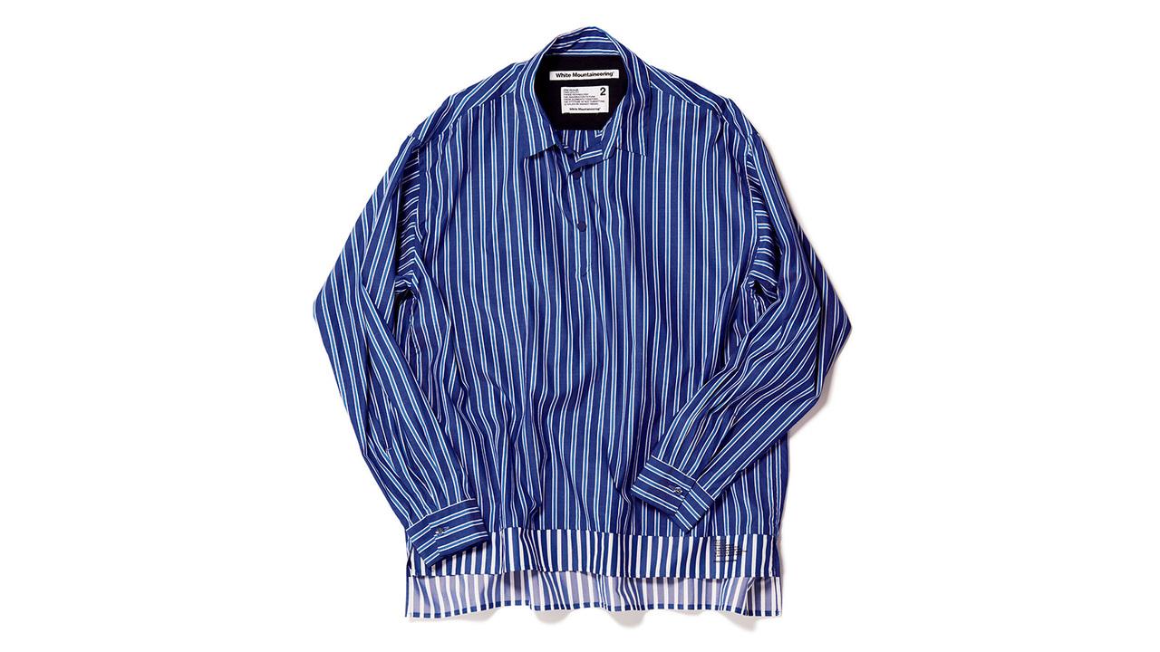ホワイトマウンテニアリングのプルオーバーシャツ