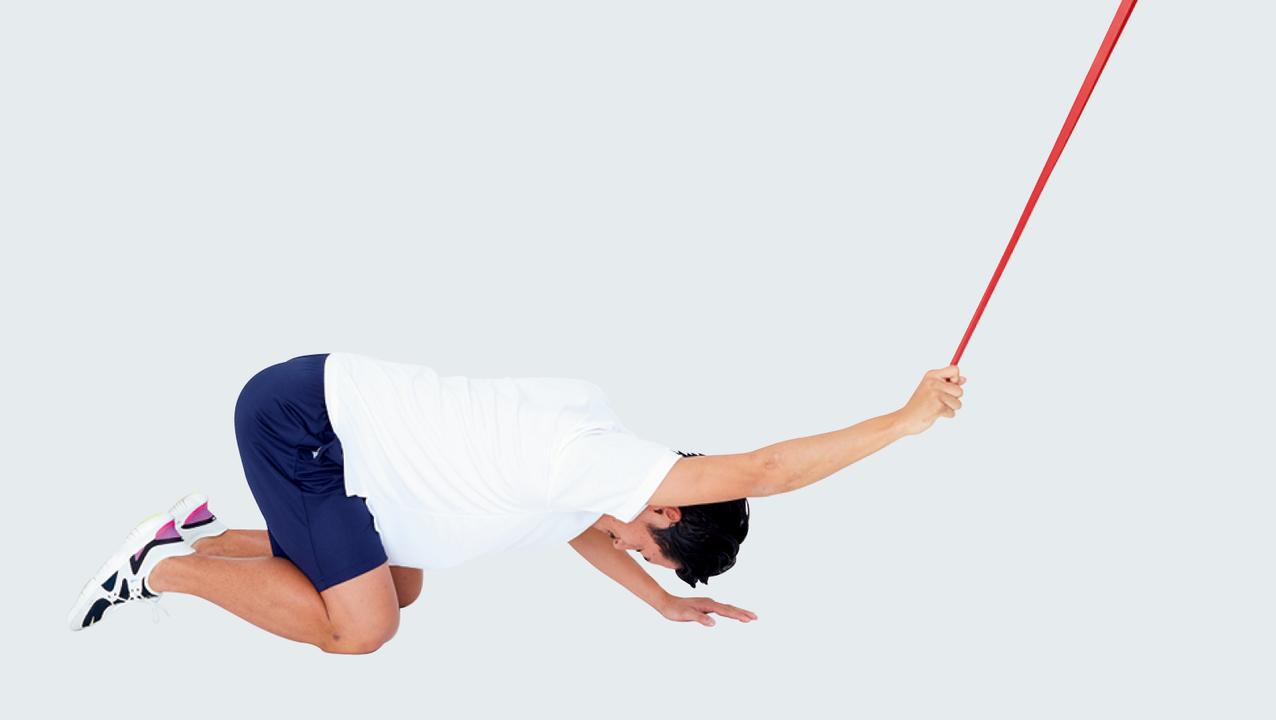 肩甲骨まわりを刺激するのにチューブは必須