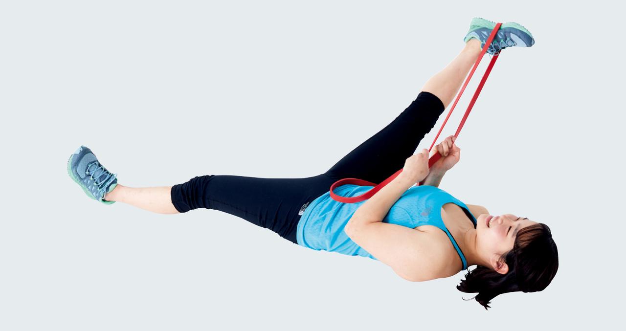 伸縮性があるのでタオルよりも負荷の調節がしやすいです