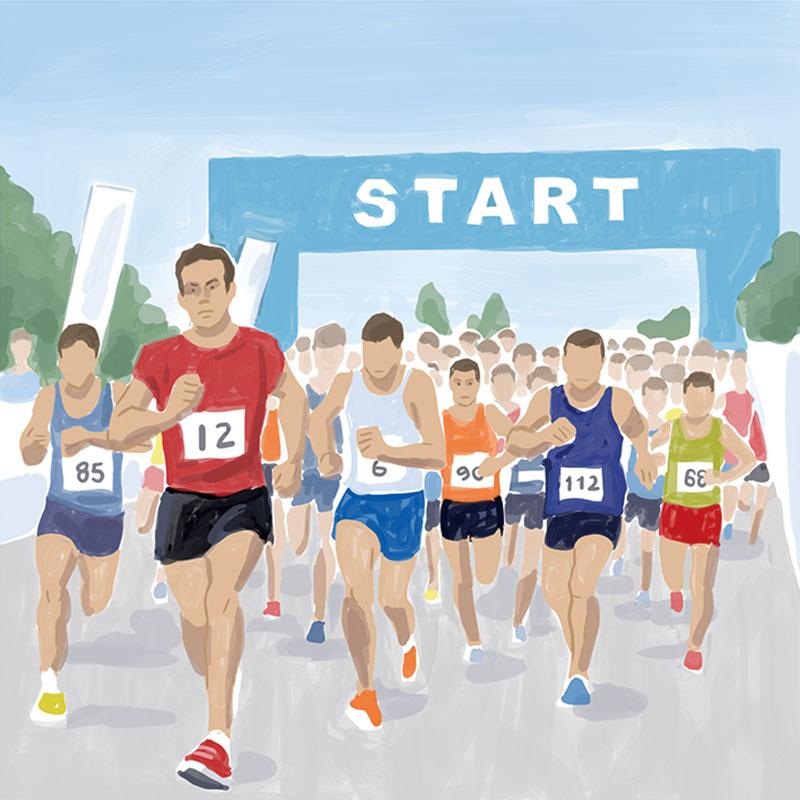 マラソン大会のイラスト