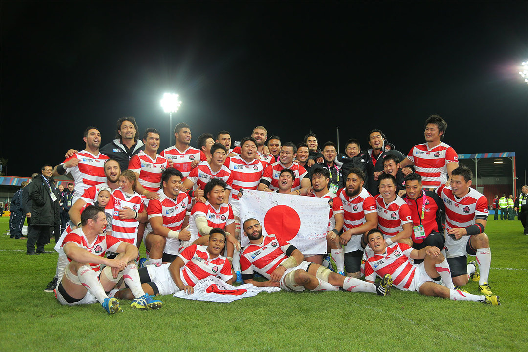 2015年のラグビーW杯、日本VSアメリカの試合