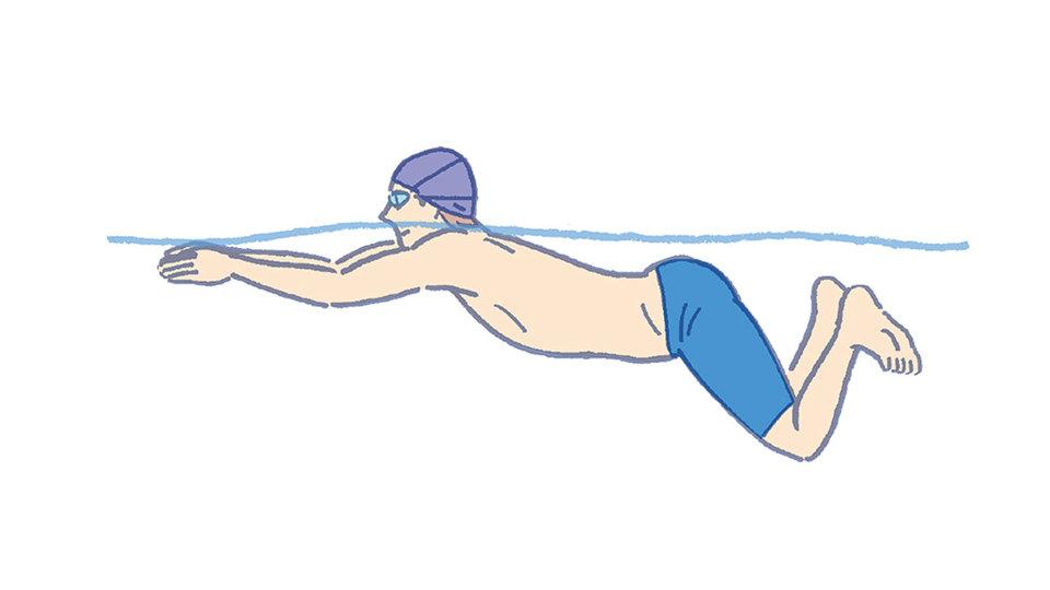 平泳ぎの秘訣(2) 「搔く、キック、ひと伸び」の流れをスムーズに!
