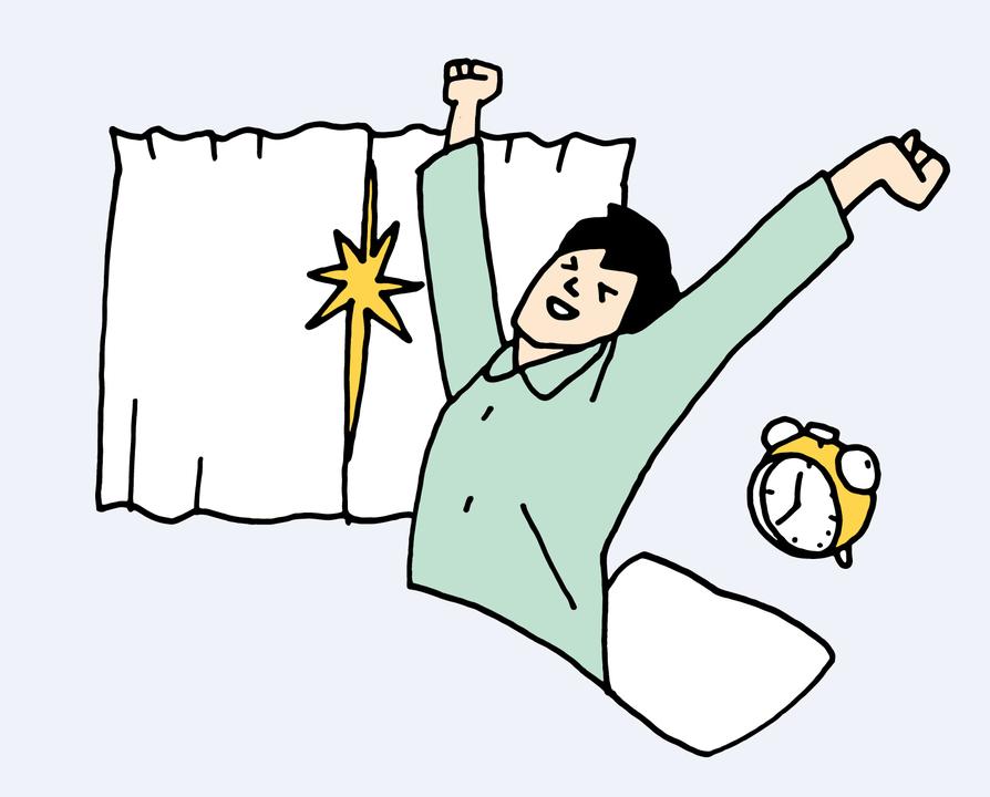 遮光カーテンで早朝の覚醒を防ぐ