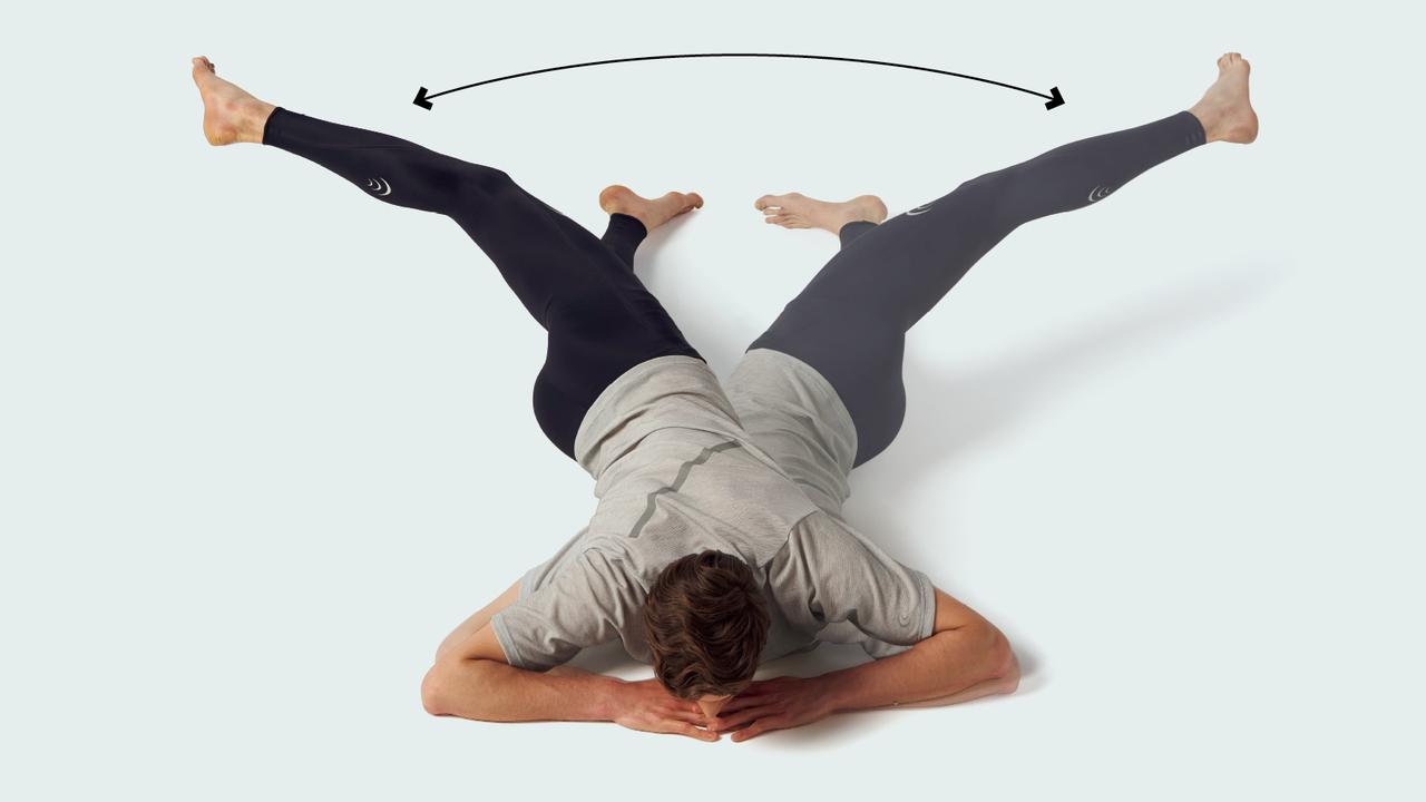 股関節の屈筋群と胸椎のストレッチ
