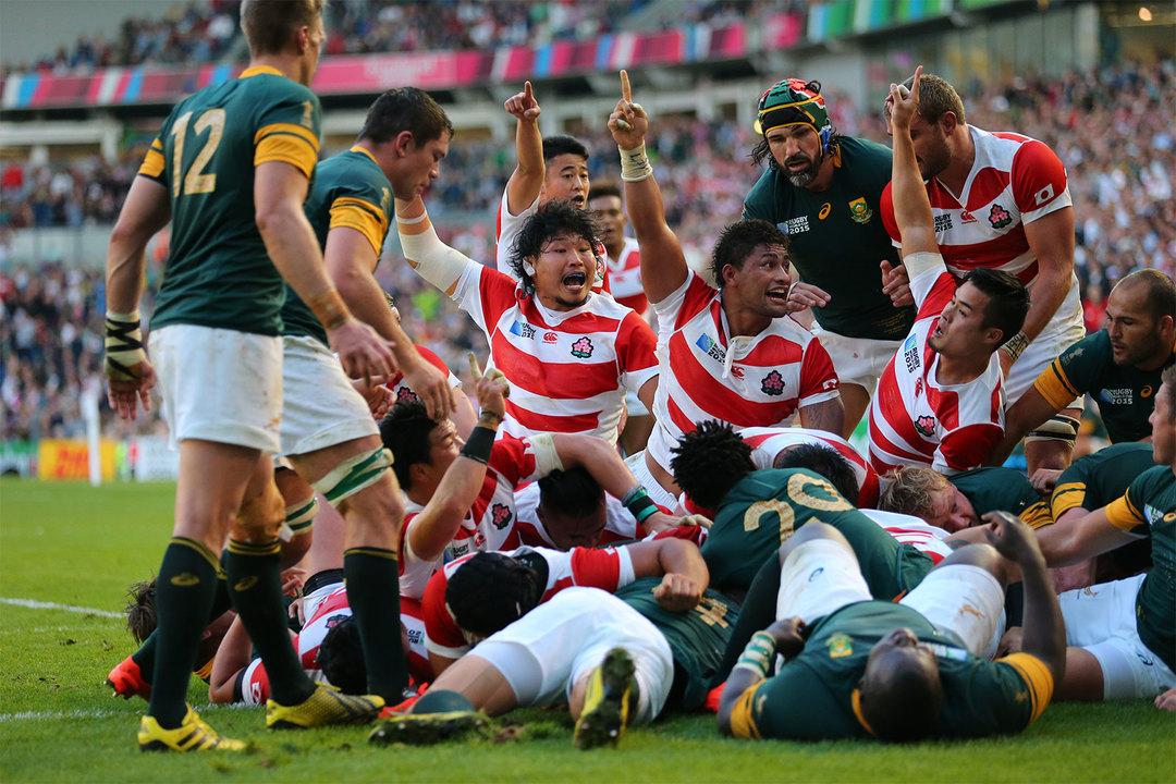 2015 年大会では初戦で格上の南アフリカを撃破。日本中が熱狂したことを、多くの人が覚えているはずだ。