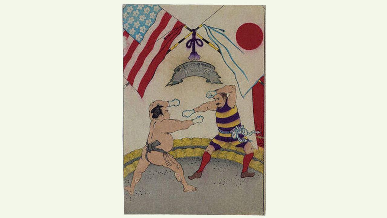日本初のプロレスの宣伝ポスター